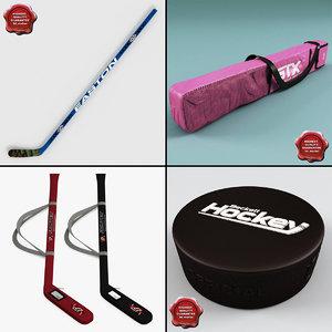 hockey stick v6 3d model