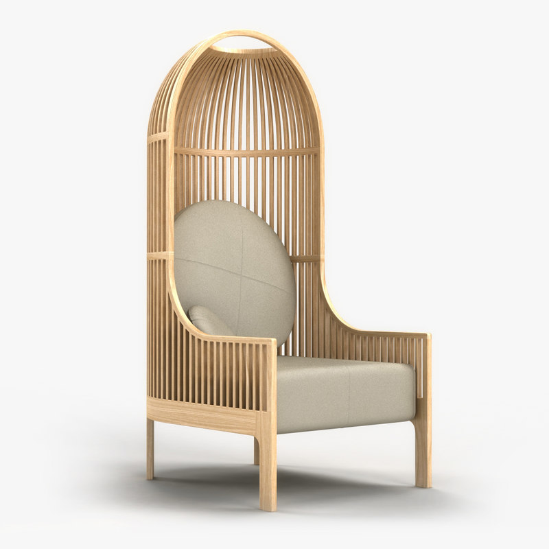 nest lounge chair 3ds