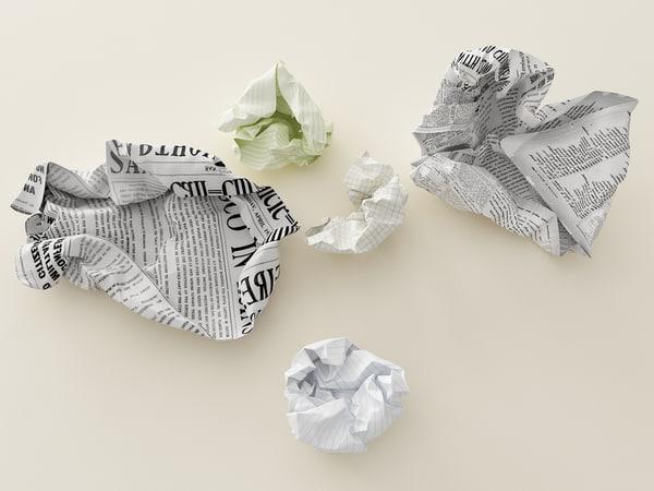 max crumpled paper