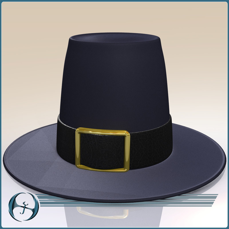 3d max thanksgiving pilgrim s hat