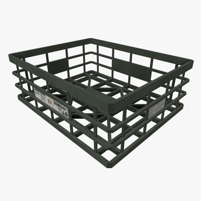 3d model plastic crate storage