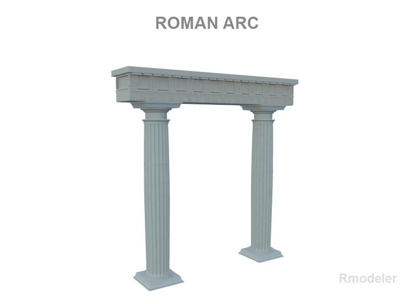 3d model arch romans arc