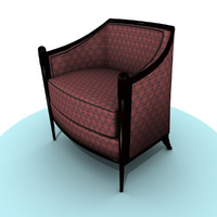 3ds lounge chair damask
