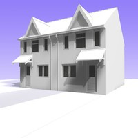 british 2 storey semi detached c4d