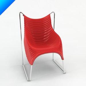 c4d wavy chair design ron arad
