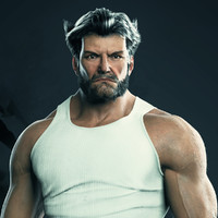 3d model realistic wolverine -
