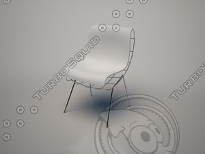 bean chair frighetto 3d model