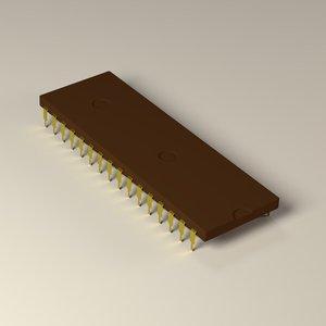 3d chip model