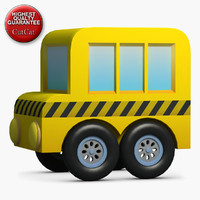 3d construction icons 23 bus model