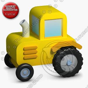 construction icons 30 traktor 3d max