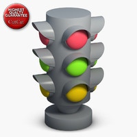 construction icons 34 traffic lights 3d model