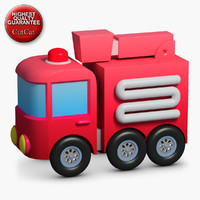 3d construction icons 44 firetruck