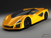 giugiaro frazer concept car 3d max
