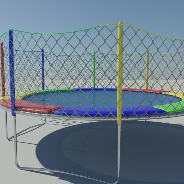 3dsmax trampoline safety net