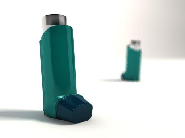3d asthma inhaler model
