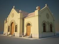 3dsmax jewish cemetery chapel
