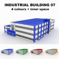3d model large industrial building 07