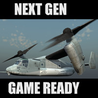MV-22 USMC Transport Aircraft Game Ready Model