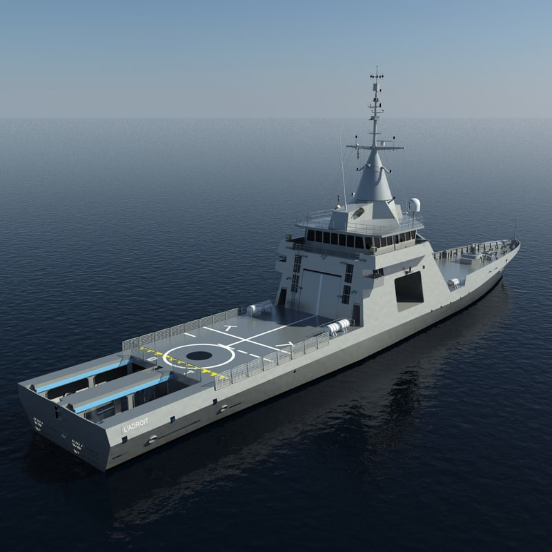 3d model gowind offshore patrol vessels