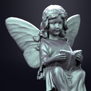 statue fairy 3d model