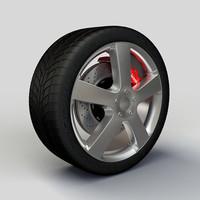 Wheel ZNA 320 rim and tire