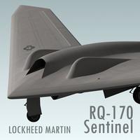3ds max rq-170 sentinel