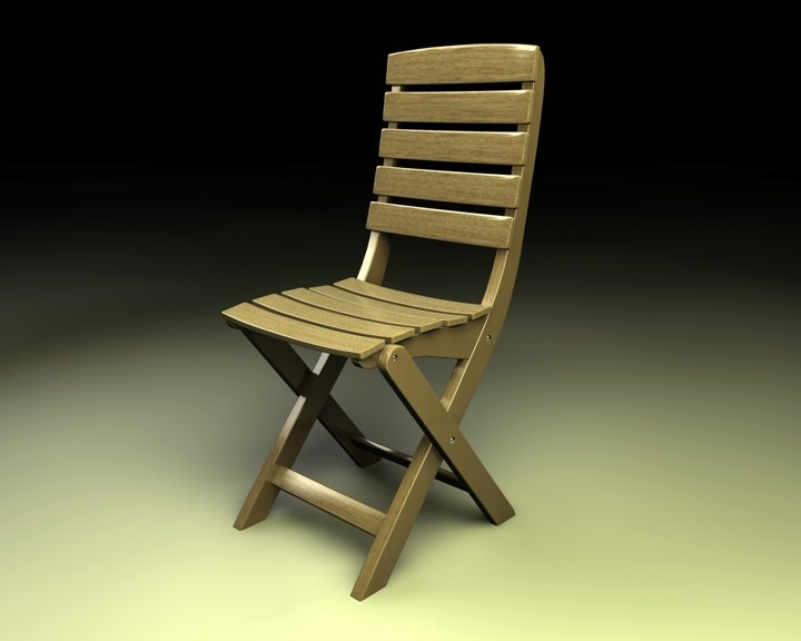 free chair wood wooden 3d model