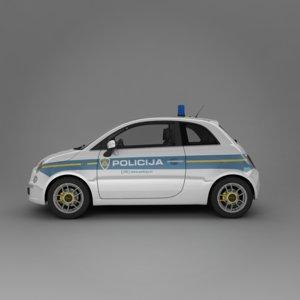 new fiat 500 2007 3d model