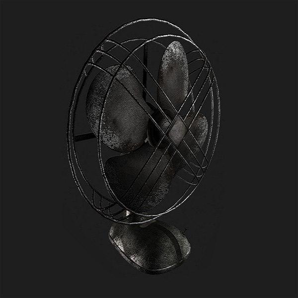 3d model of fan
