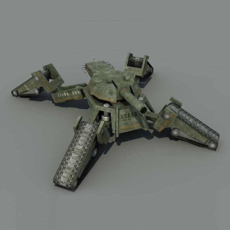 3d futuristic tank crab model