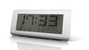 3d model digital alarm