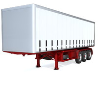 generic semi trailer 3d model