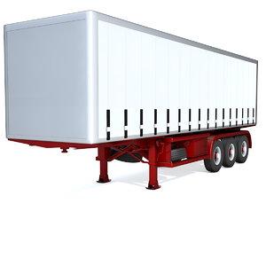 generic semi trailer 3d model