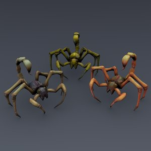 3d model insectoid monster