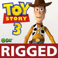 woody pixar toys story motion 3d model
