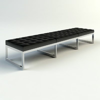 Chrome & Leather Bench