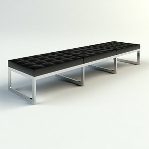 max chrome leather bench