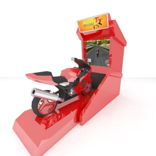 3d arcade machine bike