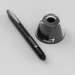 genius optic pencil 3d model