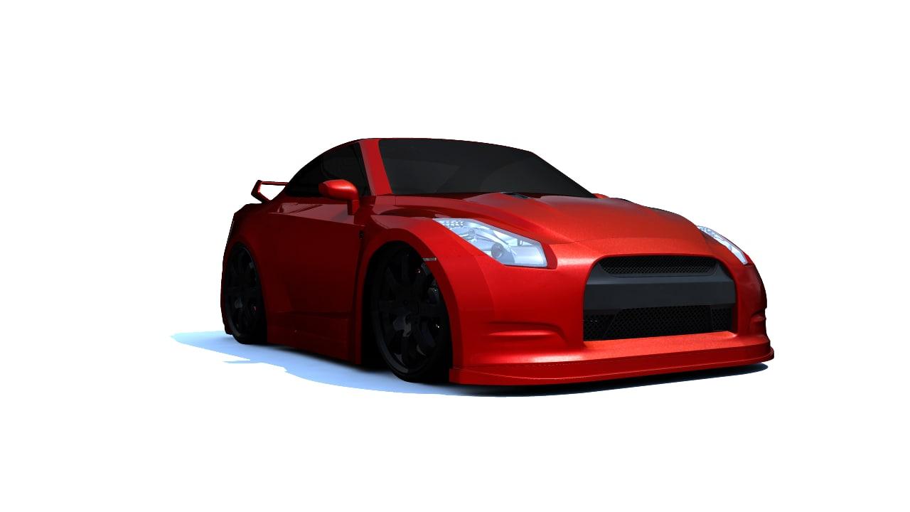 3d model stylized gtr r35
