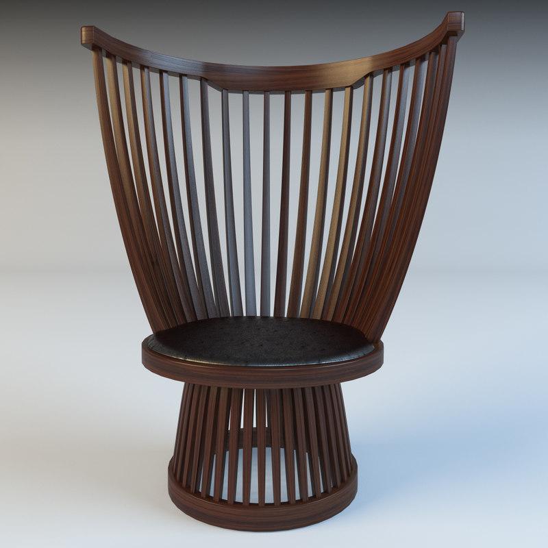 3d fan easy chair model