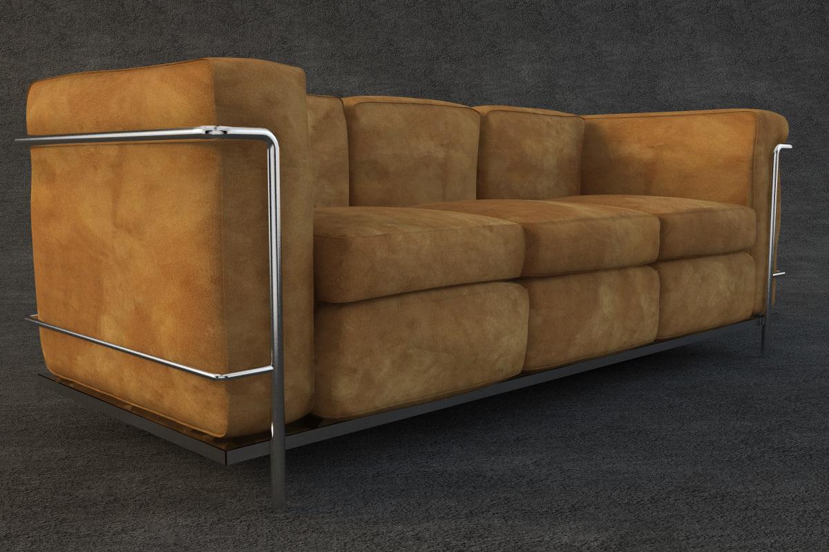 e003 corbusier sofa furniture 3d model