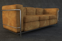 e003 corbusier sofa furniture 3d model