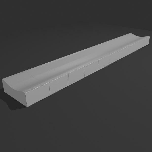 gutter stones 3d model