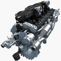 3d 6 v12 lamborghini engine