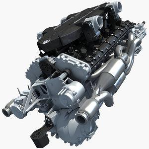 3d 6 v12 lamborghini engine