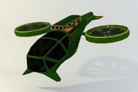 spacecraft ios corridor 3d c4d