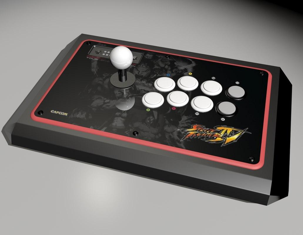 3d arcade fightstick model