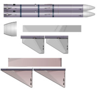 aim-120 advanced medium-range air-to-air 3d model