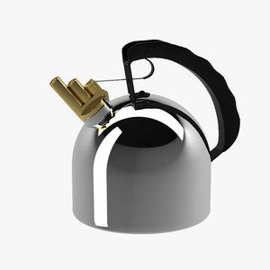3d model alessi 9091 kettle